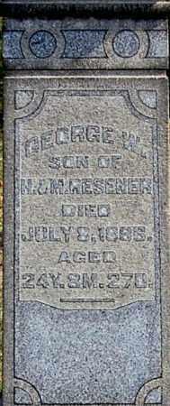 RESENER, GEORGE W (CLOSE-UP) - Gallia County, Ohio | GEORGE W (CLOSE-UP) RESENER - Ohio Gravestone Photos