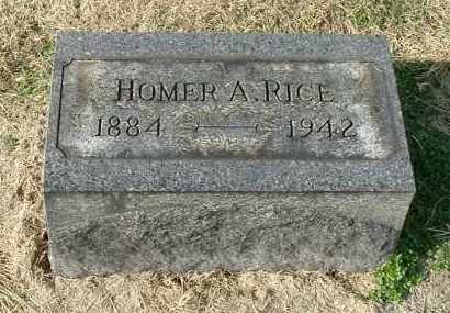 RICE, HOMER A - Gallia County, Ohio | HOMER A RICE - Ohio Gravestone Photos
