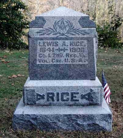 RICE, LEWIS A - Gallia County, Ohio | LEWIS A RICE - Ohio Gravestone Photos