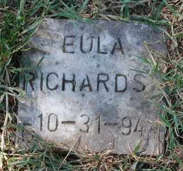 RICHARDS, EULA - Gallia County, Ohio | EULA RICHARDS - Ohio Gravestone Photos