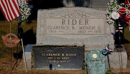 RIDER, MUNCIE E - Gallia County, Ohio | MUNCIE E RIDER - Ohio Gravestone Photos