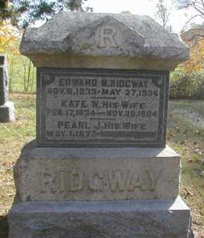 RIDGWAY, EDWARD - Gallia County, Ohio | EDWARD RIDGWAY - Ohio Gravestone Photos