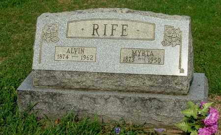 RIFE, ALVIN - Gallia County, Ohio | ALVIN RIFE - Ohio Gravestone Photos