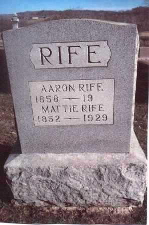 RIFE, AARON - Gallia County, Ohio | AARON RIFE - Ohio Gravestone Photos