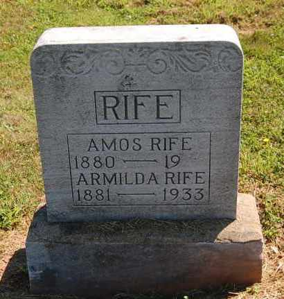 RIFE, ARMILDA - Gallia County, Ohio | ARMILDA RIFE - Ohio Gravestone Photos