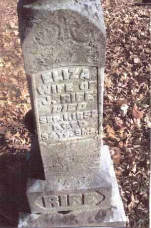 RIFE, ELIZA - Gallia County, Ohio | ELIZA RIFE - Ohio Gravestone Photos