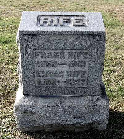 RIFE, FRANK - Gallia County, Ohio | FRANK RIFE - Ohio Gravestone Photos