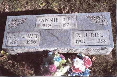 RIFE, FANNIE - Gallia County, Ohio | FANNIE RIFE - Ohio Gravestone Photos