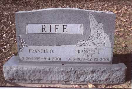 RIFE, FRANCES I. - Gallia County, Ohio | FRANCES I. RIFE - Ohio Gravestone Photos