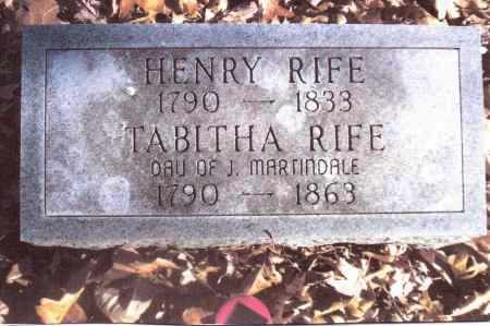 MARTINDALE RIFE, TABITHA - Gallia County, Ohio | TABITHA MARTINDALE RIFE - Ohio Gravestone Photos