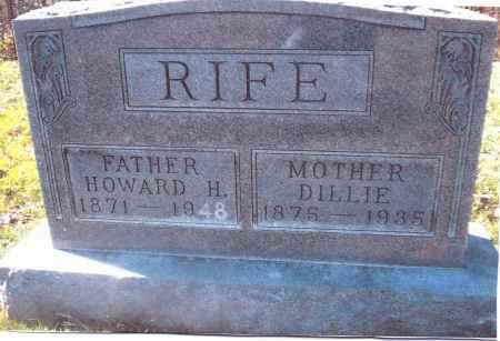 "RIFE, FIDELLA ""DILLIE"" - Gallia County, Ohio 