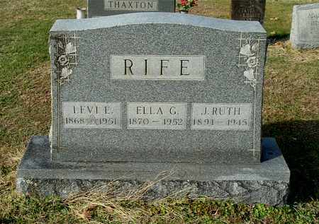 RIFE, ELLA G - Gallia County, Ohio | ELLA G RIFE - Ohio Gravestone Photos