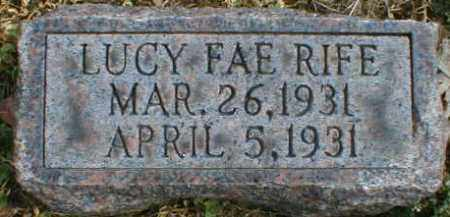 RIFE, LUCY - Gallia County, Ohio | LUCY RIFE - Ohio Gravestone Photos
