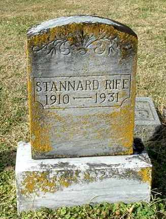 RIFE, STANNARD - Gallia County, Ohio | STANNARD RIFE - Ohio Gravestone Photos