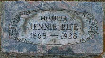 RIFE, VIRGINIA - Gallia County, Ohio | VIRGINIA RIFE - Ohio Gravestone Photos