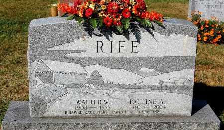 RIFE, WALTER - Gallia County, Ohio | WALTER RIFE - Ohio Gravestone Photos