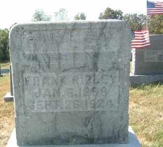 RIPLEY, FRANK - Gallia County, Ohio | FRANK RIPLEY - Ohio Gravestone Photos