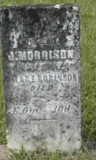 ROBINSON, J. MORRISON - Gallia County, Ohio | J. MORRISON ROBINSON - Ohio Gravestone Photos