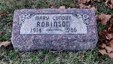 CUNDIFF ROBINSON, MARY - Gallia County, Ohio | MARY CUNDIFF ROBINSON - Ohio Gravestone Photos
