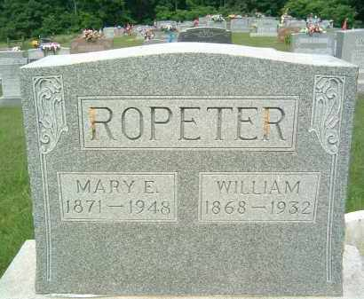 ROPETER, MARY E. - Gallia County, Ohio | MARY E. ROPETER - Ohio Gravestone Photos