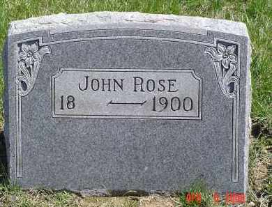ROSE, JOHN - Gallia County, Ohio | JOHN ROSE - Ohio Gravestone Photos