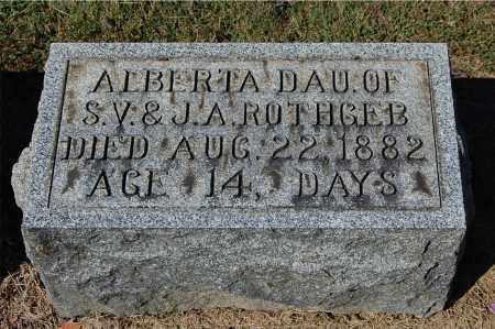 ROTHGEB, ALBERTA - Gallia County, Ohio   ALBERTA ROTHGEB - Ohio Gravestone Photos