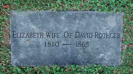 ROTHGEB, ELIZABETH - Gallia County, Ohio | ELIZABETH ROTHGEB - Ohio Gravestone Photos
