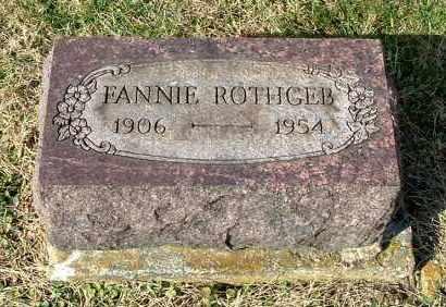 ROTHGEB, FANNIE - Gallia County, Ohio | FANNIE ROTHGEB - Ohio Gravestone Photos