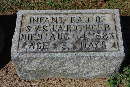 ROTHGEB, INFANT - Gallia County, Ohio | INFANT ROTHGEB - Ohio Gravestone Photos