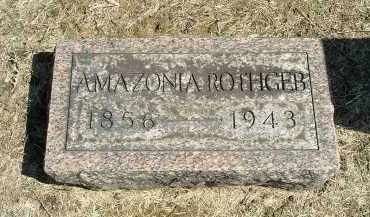 ROTHGEB, SARAH AMAZONIA - Gallia County, Ohio | SARAH AMAZONIA ROTHGEB - Ohio Gravestone Photos
