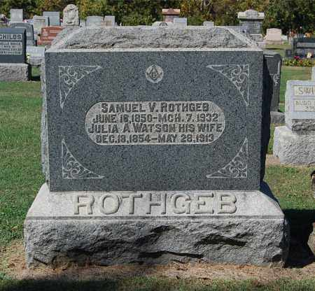 ROTHGEB, JULIA A - Gallia County, Ohio | JULIA A ROTHGEB - Ohio Gravestone Photos