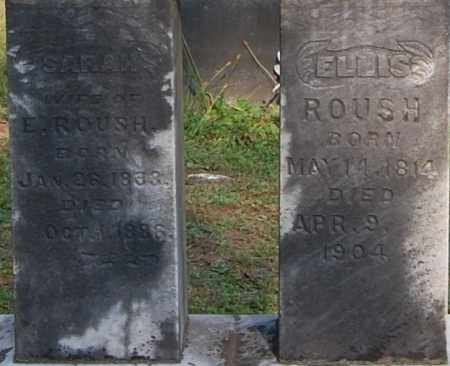 ROUSH, ELLIS (CLOSE-UP) - Gallia County, Ohio | ELLIS (CLOSE-UP) ROUSH - Ohio Gravestone Photos