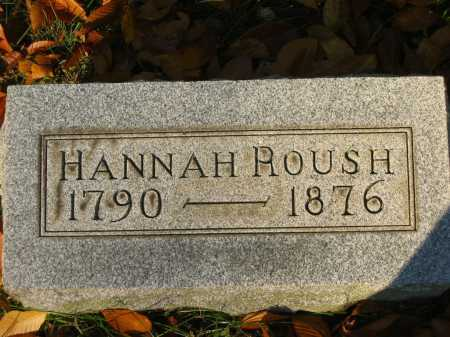 ROUSH, HANNAH - Gallia County, Ohio | HANNAH ROUSH - Ohio Gravestone Photos
