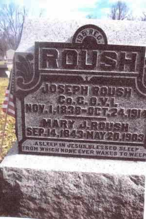 ROUSH, MARY J. - Gallia County, Ohio | MARY J. ROUSH - Ohio Gravestone Photos