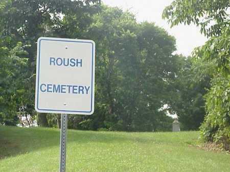 ROUSH SIGN, CEMETERY - Gallia County, Ohio | CEMETERY ROUSH SIGN - Ohio Gravestone Photos