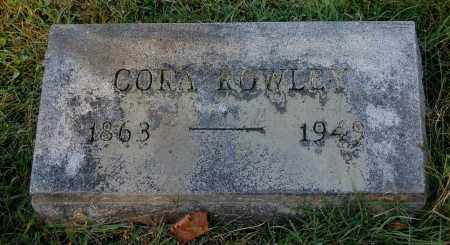 ROWLEY, CORA - Gallia County, Ohio | CORA ROWLEY - Ohio Gravestone Photos