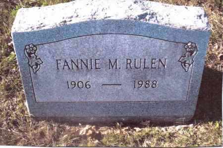 RULEN, FANNIE M. - Gallia County, Ohio | FANNIE M. RULEN - Ohio Gravestone Photos