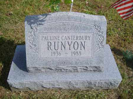 CANTERBURY RUNYON, PAULINE - Gallia County, Ohio | PAULINE CANTERBURY RUNYON - Ohio Gravestone Photos