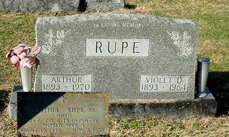 RUPE, ARTHUR, SR. - Gallia County, Ohio | ARTHUR, SR. RUPE - Ohio Gravestone Photos
