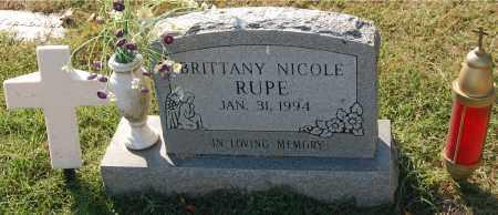 RUPE, BRITTANY NICOLE - Gallia County, Ohio | BRITTANY NICOLE RUPE - Ohio Gravestone Photos