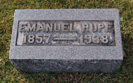 RUPE, EMANUEL - Gallia County, Ohio | EMANUEL RUPE - Ohio Gravestone Photos