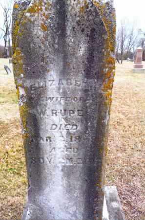 ROTHGEB RUPE, ELIZABETH - Gallia County, Ohio | ELIZABETH ROTHGEB RUPE - Ohio Gravestone Photos
