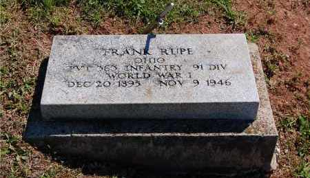 RUPE, FRANK - Gallia County, Ohio | FRANK RUPE - Ohio Gravestone Photos