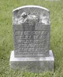 RUPE, GRACE - Gallia County, Ohio | GRACE RUPE - Ohio Gravestone Photos