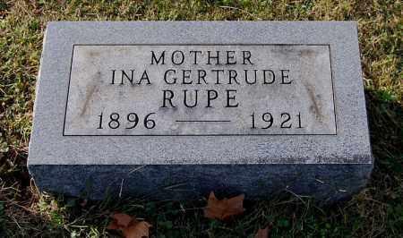 RUPE, INA GERTRUDE - Gallia County, Ohio | INA GERTRUDE RUPE - Ohio Gravestone Photos