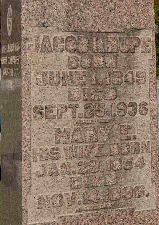 RUPE, JACOB H (CLOSE-UP) - Gallia County, Ohio | JACOB H (CLOSE-UP) RUPE - Ohio Gravestone Photos