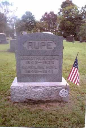 RUPE, JONATHAN - Gallia County, Ohio | JONATHAN RUPE - Ohio Gravestone Photos