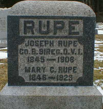 RUPE, MARY - Gallia County, Ohio | MARY RUPE - Ohio Gravestone Photos