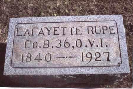 RUPE, LAFAYETTE - Gallia County, Ohio | LAFAYETTE RUPE - Ohio Gravestone Photos