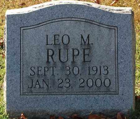 RUPE, LEO M - Gallia County, Ohio | LEO M RUPE - Ohio Gravestone Photos